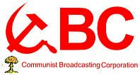 CBC logo in communist motif