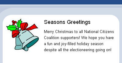 Happy 'X-mas' and 'holiday' from the NCC!