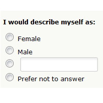 Left-wing think tank survey: Are you Female, Male, … or fill in the blank?!