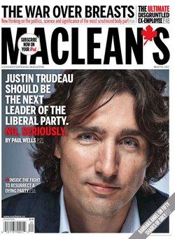 Swoon, media, Swoon. Simper. Fawn. Pump up that Trudeaupian liberalism & progressivism. Trudeaumania, again.