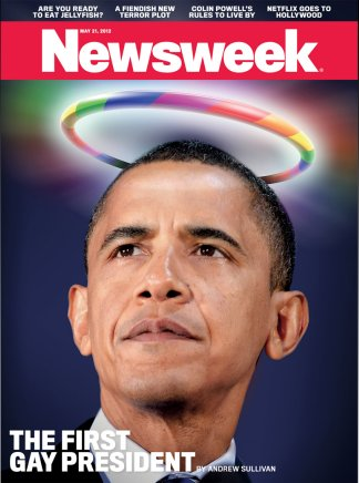 Newsweek cover - May 2012 - Obama supports gay marriage