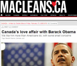 This week in idiocy: Maclean's magazine latest kowtow to Team Canada Republican-Hater