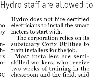 "BC Hydro is a capitalist ""corporation"" in much the same way Cuba is ""democratic"" or ""free"""