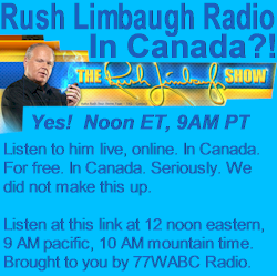 Rush Limbaugh Radio ad