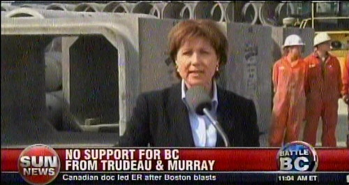Trudeau Jr., uh, won't, uh, support BC Liberal Clark in BC Libs', uh, re-election bid. Duh.