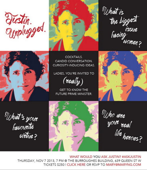 Justin Trudeau in $250 Ladies Night of Sexism, Condescension, Pandering