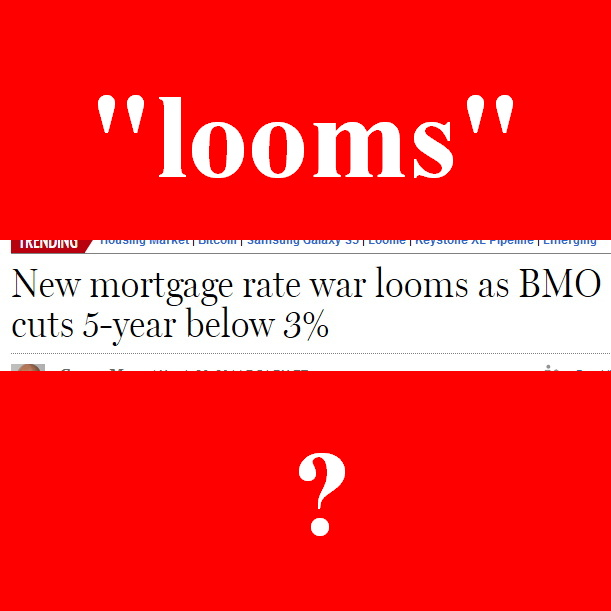 "Since when does a mortgage rate war ""loom,"" or concern government?"