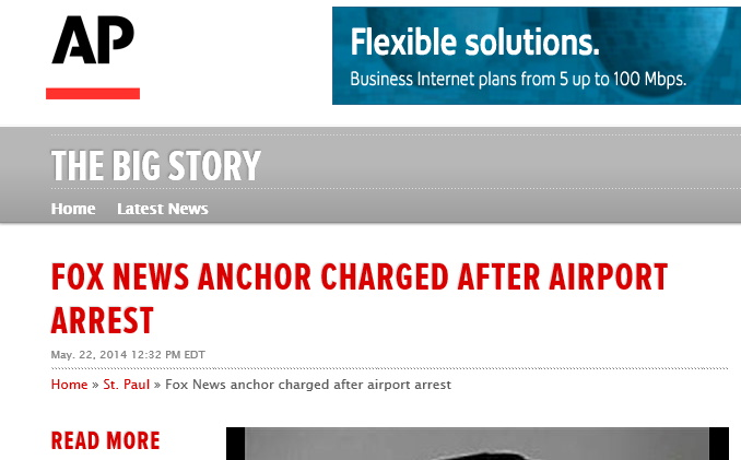 'Fox News Anchor Charged After Airport Arrest'