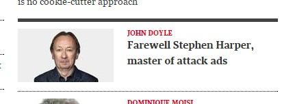 John Doyle fares poorly