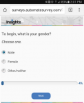 "Poll question #1: ""What is your gender? Choose one.""  Three choices offered."