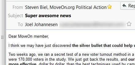The way mature coolkids at MoveOn.org have some super awesome news for me!