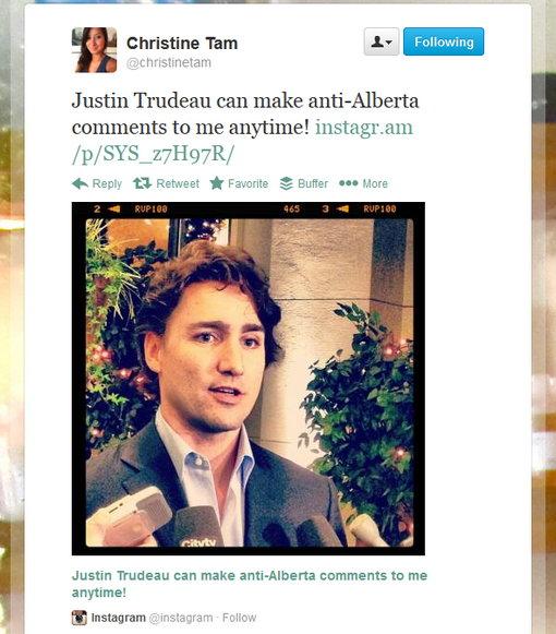 """CTV """"online reporter/editor"""" skips lede, blithely tweets her love for Justin Trudeau."""