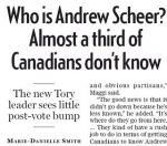 "News of his election booted to page 30; now media asks, ""Who is this Andrew Scheer guy?"""